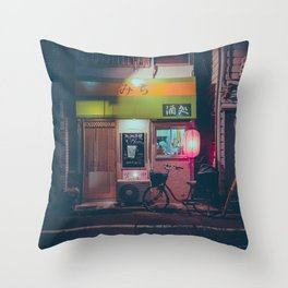 Tokyo's Ramen Restaurants Throw Pillow