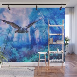 Owl flight Wall Mural
