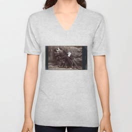 Portrait of Oscar Wilde (1882) Unisex V-Neck