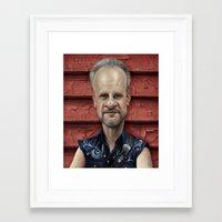 chris evans Framed Art Prints featuring  Mark Evans by AndreKoeks