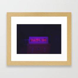 Neon sign inspiration - Hurt me Framed Art Print