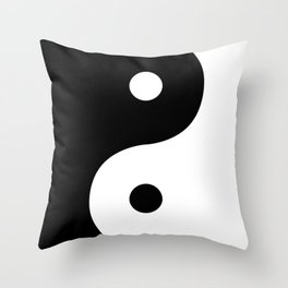 Yin And Yang Sides Throw Pillow