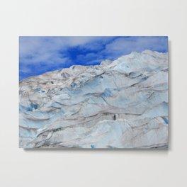 Hiking the glacier in Juneau Alaska  Metal Print