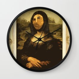 Ups! ( Mona Lisa - La Gioconda ) Wall Clock