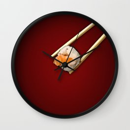 Sushi in red Wall Clock