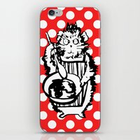 guinea pig iPhone & iPod Skins featuring Guinea Pig Baking Extraordinaire  by Katy Shorttle