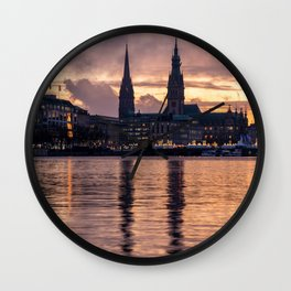 Alster Hamburg in Germany Wall Clock
