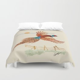 male pheasant Duvet Cover