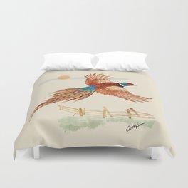 male pheasant Duvet Cover