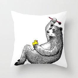 Bear Shower Curtain Throw Pillow