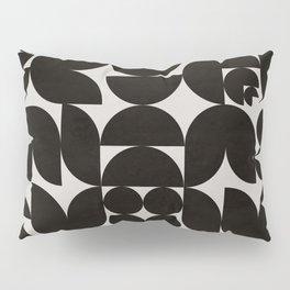 Black & White Mid Century Modern Pattern Pillow Sham