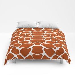 Rust Red Safari Giraffe Comforters