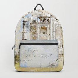 Taj Mahal, India Backpack