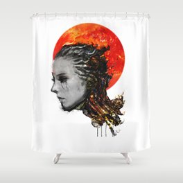 just a ghost in the shell Shower Curtain