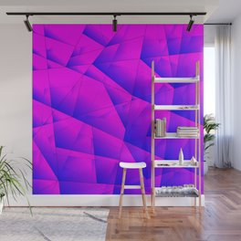 Pattern of purple and lilac triangles and irregularly shaped lines. Wall Mural