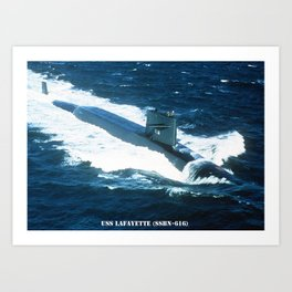 USS LAFAYETTE (SSBN-616) Art Print
