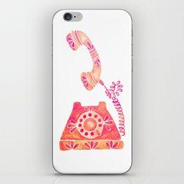 Vintage Rotary Phone – Peach Palette iPhone Skin