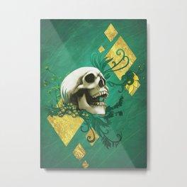 Peridot - Skull design Metal Print
