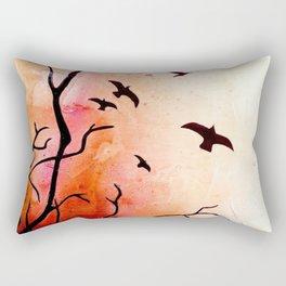 Birds flying Rectangular Pillow