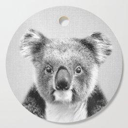 Koala - Black & White Cutting Board