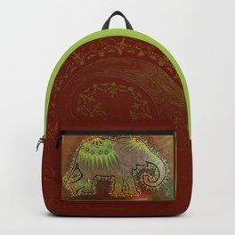 Elephant Orange Backpack