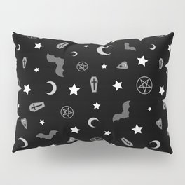 goth occult pattern Pillow Sham