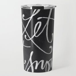 Chalkboard Art - Let it Snow Travel Mug
