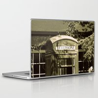 telephone Laptop & iPad Skins featuring Telephone by Irène Sneddon