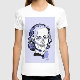 Composer Johann Pachelbel Baroque Violin Artwork Wall Art Canon in D Wedding music Gift for Bride T-shirt