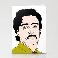 mad men Stationery Cards featuring Ginsberg - Mad Men by Aishling K