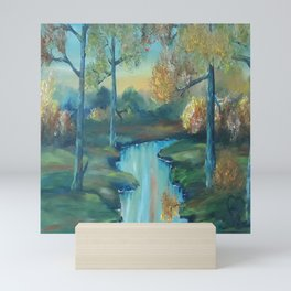 Autumn is Here, Original Contemporary Oil Painting, Original Modern Art, landscape, Luna Smith Mini Art Print