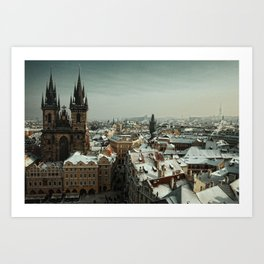 Prague never lets you go Art Print