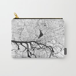 Hamburg City Map Gray Carry-All Pouch