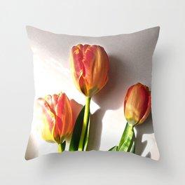 Les Tulipes. Tulips. Throw Pillow