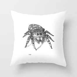 Inktober 2016: Jumping Spider Throw Pillow