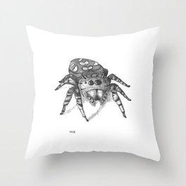 Inktober 2016: Jumping Spider Throw Pillow