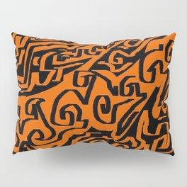 Laberinto ocre black Pillow Sham
