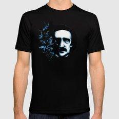 Edgar Allan Poe Crows MEDIUM Black Mens Fitted Tee