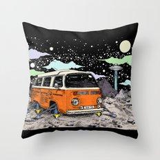 Moon Ride Color Throw Pillow