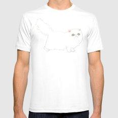 White Persian Cat MEDIUM Mens Fitted Tee White