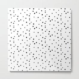 Dalmatian Polka Dots - White/Black Metal Print