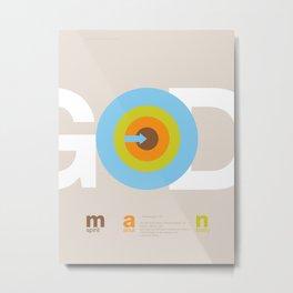 God in man Metal Print