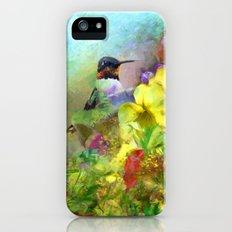 Hummingbird Bouquet iPhone SE Slim Case