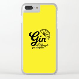 Gin. How classy people get shitfaced – Lemon Clear iPhone Case