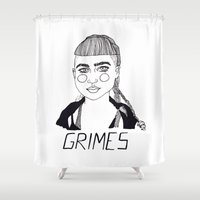 grimes Shower Curtains featuring Grimes by ☿ cactei ☿