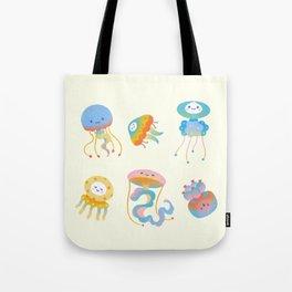 Pastel Jellyfish Tote Bag