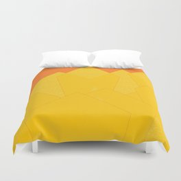 Colorful Yellow Abstract Shapes Duvet Cover