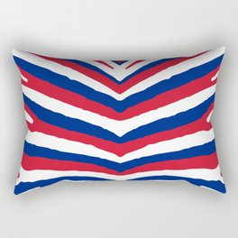 UK British Union Jack Red White and Blue Zebra Stripes Rectangular Pillow