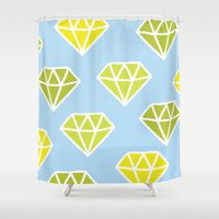 diamonds Shower Curtains featuring Diamonds by evannave