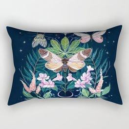 Cicada Moon Rectangular Pillow